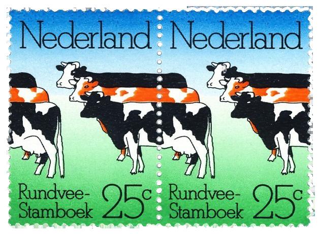Nederland-Koeien-postzegels